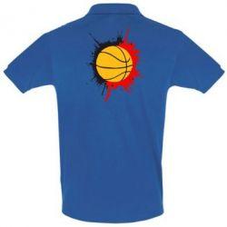 Мужская футболка поло Баскетбольный мяч