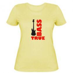 Женская футболка Bass True - FatLine
