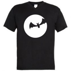 Чоловіча футболка з V-подібним вирізом Bat
