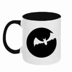 Кружка двоколірна 320ml Bat