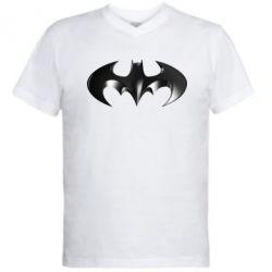 """Мужская футболка  с V-образным вырезом Batman """"3d Logo"""" - FatLine"""