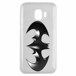 "Чехол для Samsung J2 2018 Batman ""3d Logo"""