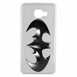 "Чехол для Samsung A7 2016 Batman ""3d Logo"""