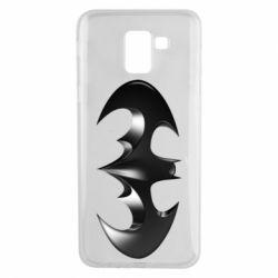 "Чехол для Samsung J6 Batman ""3d Logo"""