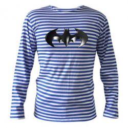 """Тельняшка с длинным рукавом Batman """"3d Logo"""" - FatLine"""