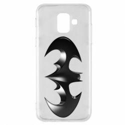 "Чехол для Samsung A6 2018 Batman ""3d Logo"""