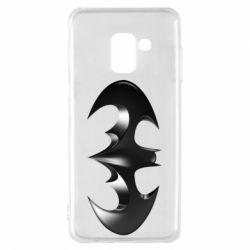 "Чехол для Samsung A8 2018 Batman ""3d Logo"""