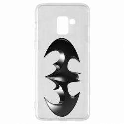 "Чехол для Samsung A8+ 2018 Batman ""3d Logo"""