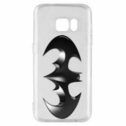 """Чехол для Samsung S7 Batman """"3d Logo"""""""