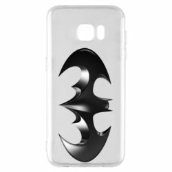 "Чехол для Samsung S7 EDGE Batman ""3d Logo"""