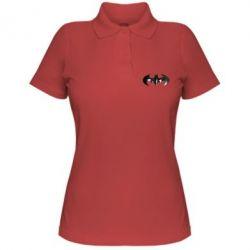 """Женская футболка поло Batman """"3d Logo"""" - FatLine"""