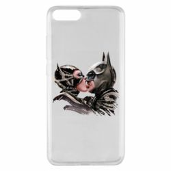 Чехол для Xiaomi Mi Note 3 Batman and Catwoman Kiss