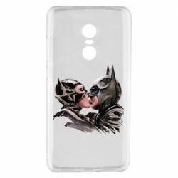 Чехол для Xiaomi Redmi Note 4 Batman and Catwoman Kiss