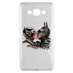 Чехол для Samsung A5 2015 Batman and Catwoman Kiss