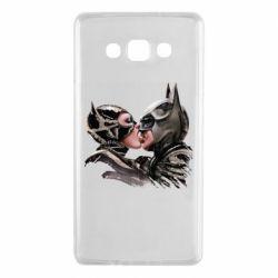 Чехол для Samsung A7 2015 Batman and Catwoman Kiss