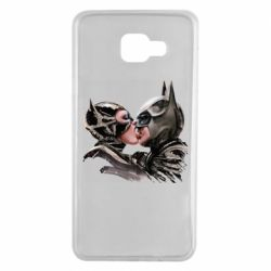 Чехол для Samsung A7 2016 Batman and Catwoman Kiss