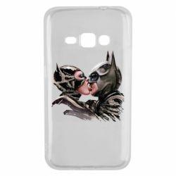 Чехол для Samsung J1 2016 Batman and Catwoman Kiss