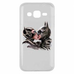 Чехол для Samsung J2 2015 Batman and Catwoman Kiss