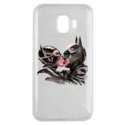 Чехол для Samsung J2 2018 Batman and Catwoman Kiss