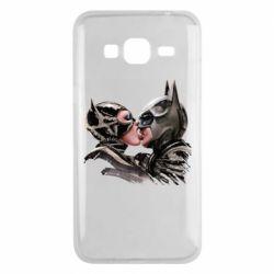 Чехол для Samsung J3 2016 Batman and Catwoman Kiss