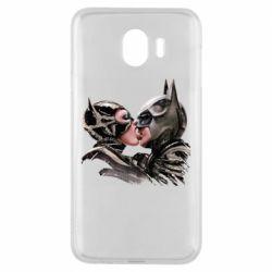 Чехол для Samsung J4 Batman and Catwoman Kiss
