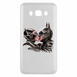 Чехол для Samsung J5 2016 Batman and Catwoman Kiss