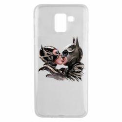 Чехол для Samsung J6 Batman and Catwoman Kiss