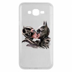 Чехол для Samsung J7 2015 Batman and Catwoman Kiss
