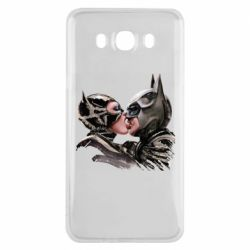 Чехол для Samsung J7 2016 Batman and Catwoman Kiss