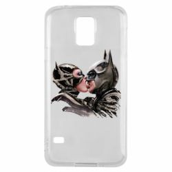 Чехол для Samsung S5 Batman and Catwoman Kiss