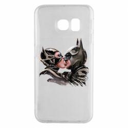 Чехол для Samsung S6 EDGE Batman and Catwoman Kiss