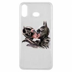 Чехол для Samsung A6s Batman and Catwoman Kiss