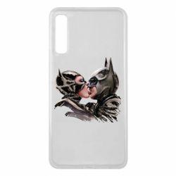 Чехол для Samsung A7 2018 Batman and Catwoman Kiss