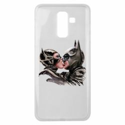 Чехол для Samsung J8 2018 Batman and Catwoman Kiss