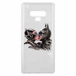 Чехол для Samsung Note 9 Batman and Catwoman Kiss