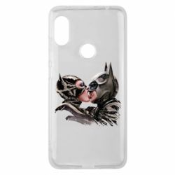 Чехол для Xiaomi Redmi Note 6 Pro Batman and Catwoman Kiss