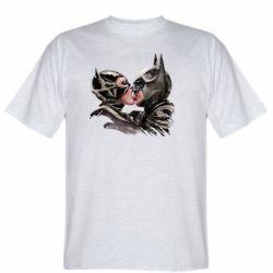 Мужская футболка Batman and Catwoman Kiss