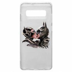 Чехол для Samsung S10+ Batman and Catwoman Kiss