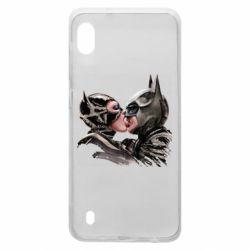 Чехол для Samsung A10 Batman and Catwoman Kiss