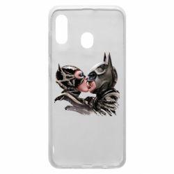 Чехол для Samsung A20 Batman and Catwoman Kiss