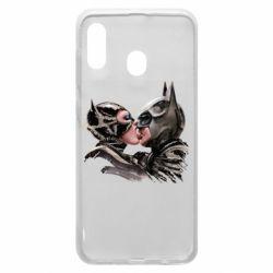 Чехол для Samsung A30 Batman and Catwoman Kiss