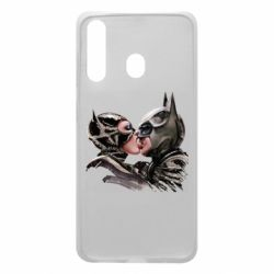 Чехол для Samsung A60 Batman and Catwoman Kiss