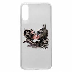 Чехол для Samsung A70 Batman and Catwoman Kiss