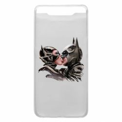 Чехол для Samsung A80 Batman and Catwoman Kiss