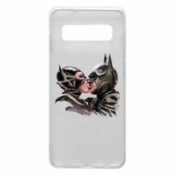 Чехол для Samsung S10 Batman and Catwoman Kiss