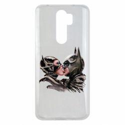 Чехол для Xiaomi Redmi Note 8 Pro Batman and Catwoman Kiss