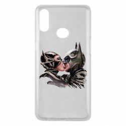 Чехол для Samsung A10s Batman and Catwoman Kiss