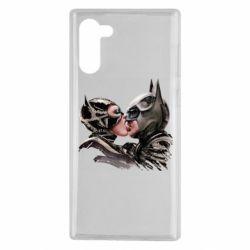 Чехол для Samsung Note 10 Batman and Catwoman Kiss
