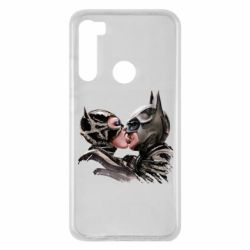 Чехол для Xiaomi Redmi Note 8 Batman and Catwoman Kiss