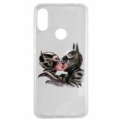 Чехол для Xiaomi Redmi Note 7 Batman and Catwoman Kiss
